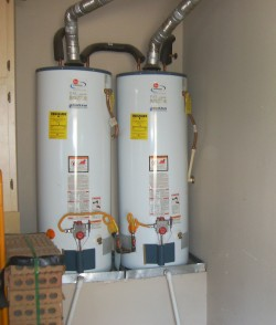 Photo of Two Water Heaters Installed in Tandem